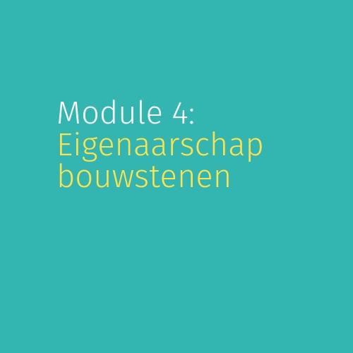 Module 4: Bouwstenen voor eigenaarschap