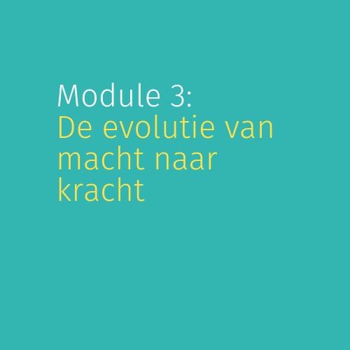 Module 3: De evolutie van macht naar kracht