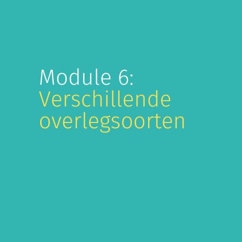 Module 6: Verschillende overlegsoorten