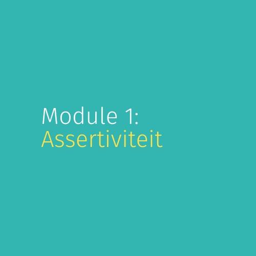 Module 1: Assertiviteit