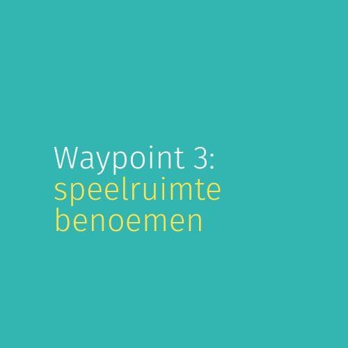 Module 5: Waypoint 3: Speelruimte benoemen
