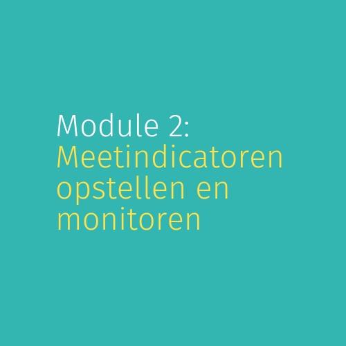 Module 2: Meetindicatoren opstellen en monitoren