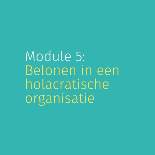 Module 5: Belonen in een holacratische organisatie