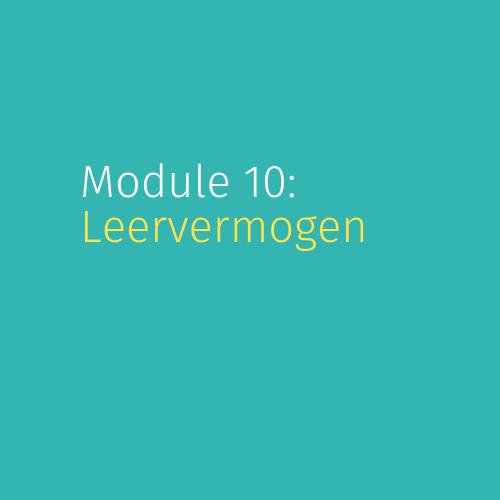 Module 10: Leervermogen